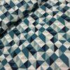 Poppy softshell squares blauw mint