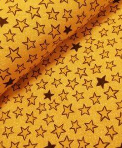 poppy sterren geel zwart softshell