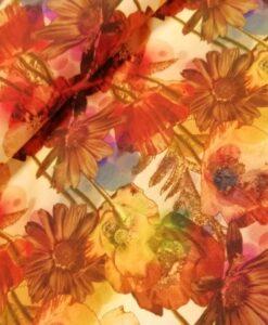 stenzo digitale tricot bloemen aardetinten