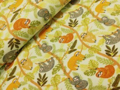 poppy happy sloths katoenen tricot
