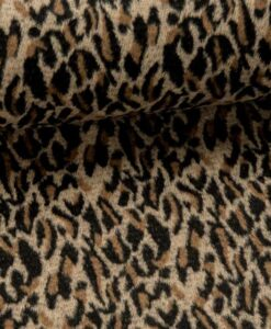 Fibre Mood Hunter Frida polyester wol luipaard mantelstof
