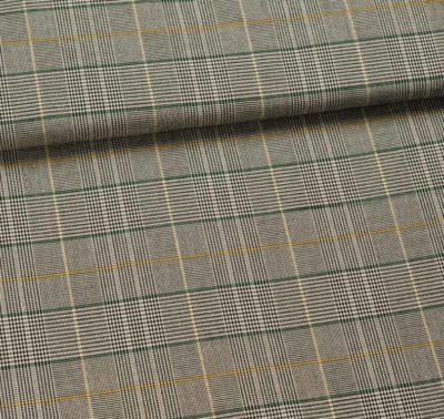 fibre mood indigo jumpsuit stretchstof met ruit