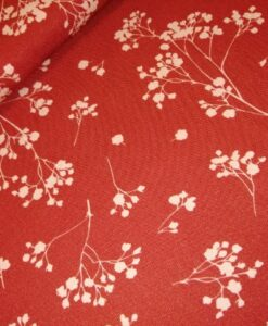 mind the maker viscose twill stalks coral