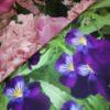 stenzo paneel krokussen tulpen bloemen roze paars