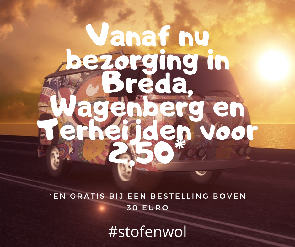 bezorging in Breda, wagenberg en terheijden voor 2,50