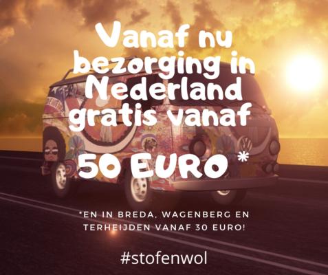 gratis bezorigin nederland vanaf 50 euro