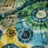 stenzo tie dye gropen blauw geel katoenen tricot