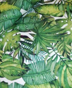 stenzo bladeren groen wit katoenen tricot