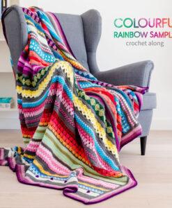 colourfulrainbow sampler blanket CAL