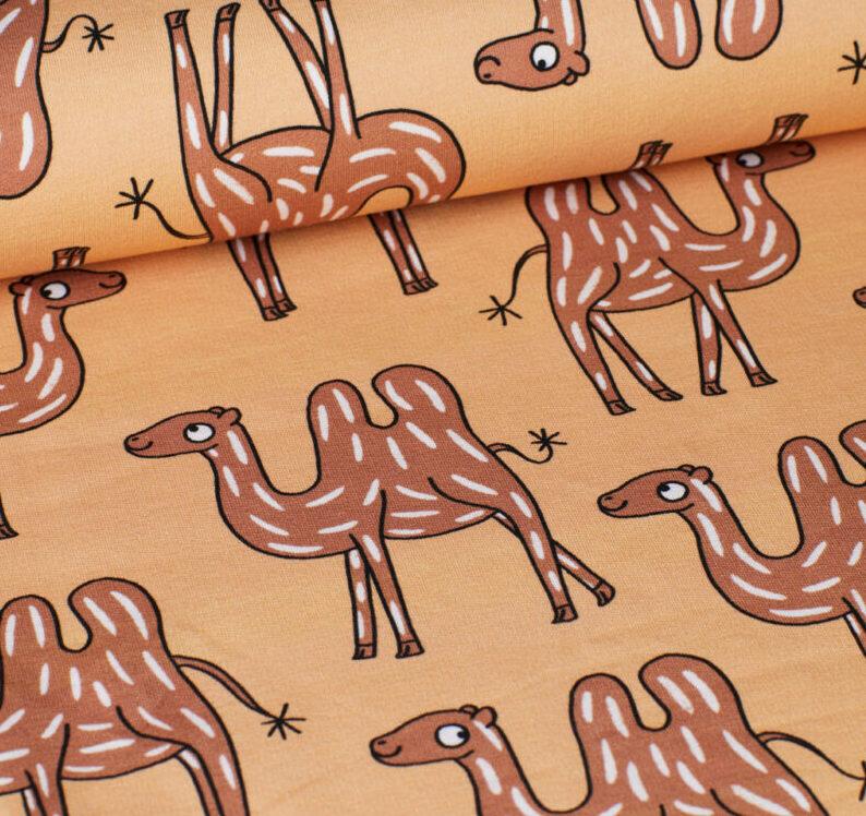 eva mouton french terry camel