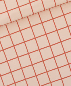 see you at six french terry grid l evening pink