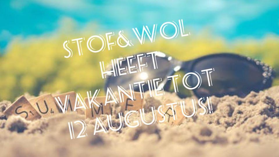 vakantiesluiting stof&wol 2020