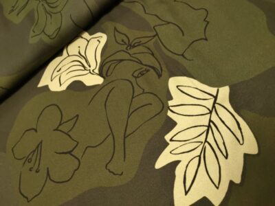 viscose bladeren geizichten groen zwart