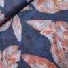 visxose bladeren bloemetjes blauw steenrood