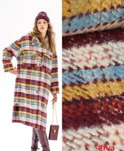 Fibre mood ruit rya coat