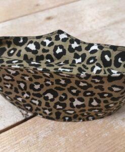 brilmondkapje leopard kaki groen