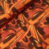 stenzo abstract oranje roest digitale katoenen tricot