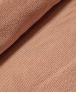 stretch riibfluweel katoen roze