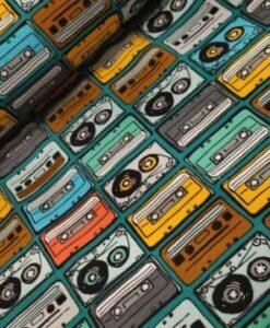 poppy katoenen tricot music tapes