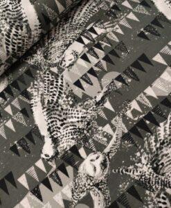 stenzo digtale tricot uilen grijs