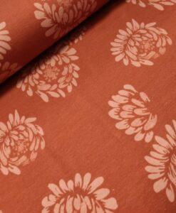 swafing bloemen roest katoenen tricot