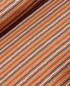 stenzo streepjes roest oker zwart wit katoenen tricot