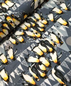 stenzo digitale tricot pinguins geel