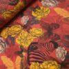 stenzo bloemen zebra;s vlinder geel rood katoenen tricot