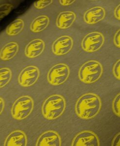 jyrassis wordl legergroen lime logoprint katoenen tricot