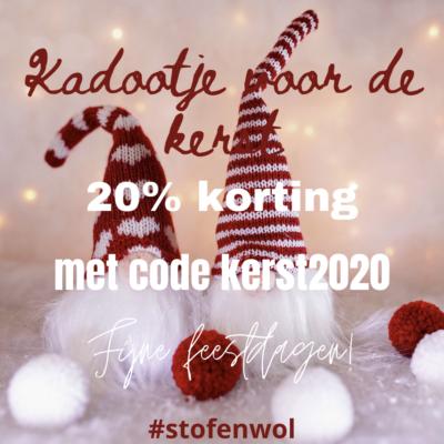 korting webshop kerst 2020