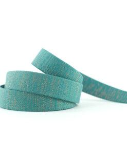 see you at six tassenband webbing slate blue green