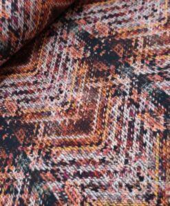 Zigzag tweed roest multi katoenen tricot zanders