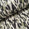 camouflage groen zwart ecru sweattricot
