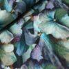 blomeen groen paars digitale katoenen tricot
