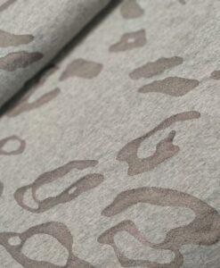 french terry luipaardvlekken transparant