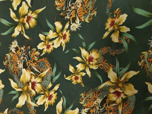 draken bloemen digtitale katoenen tricot stenzo