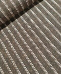 linnen katoen strepen taupe wit