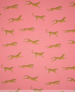 ilja fabric leopard zalmroze