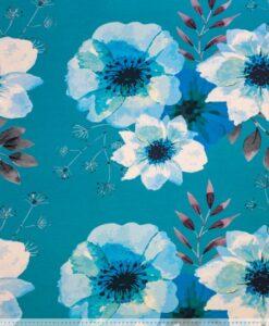 mies en moos poppy flowerfrench terry