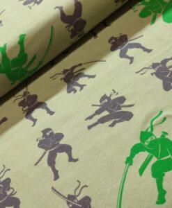 mies en moos ninja groen katoenen tricot