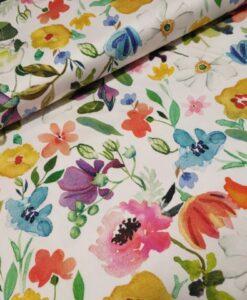 katoen elasthan bloemen mulit inkjet flower print