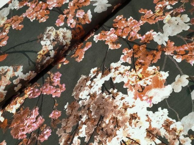 bloemen antraciet roest viscosetricot