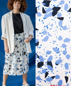 fibre mood bloom viscose crepe monet blauw