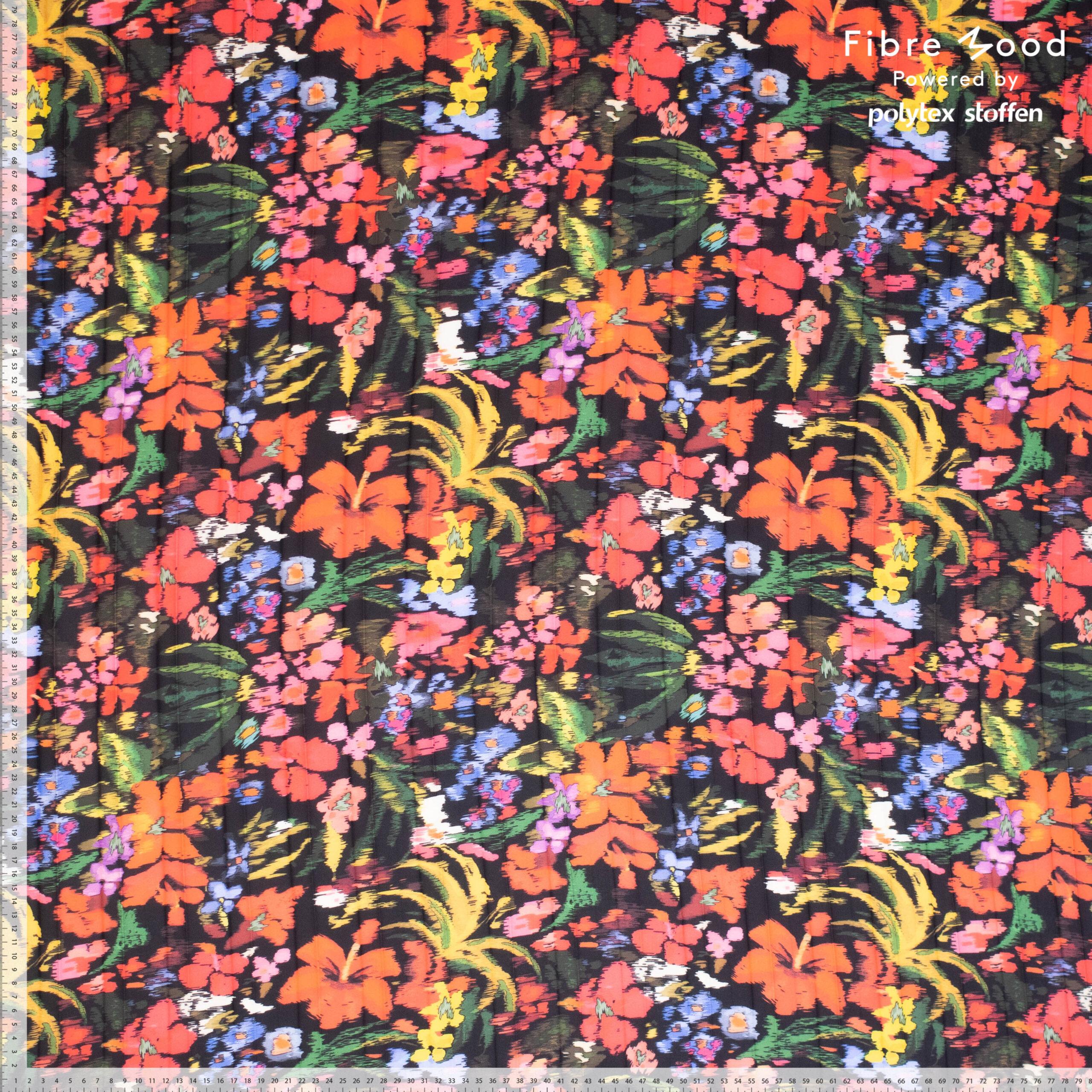 fibre mood polu=yester plisse bloemenprint bloom fiona