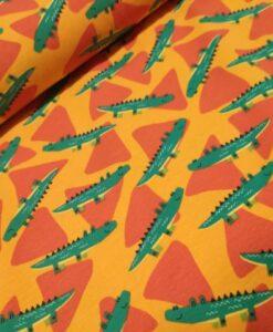krokodillen groen geeloranje katoenen tricot Nooteboom