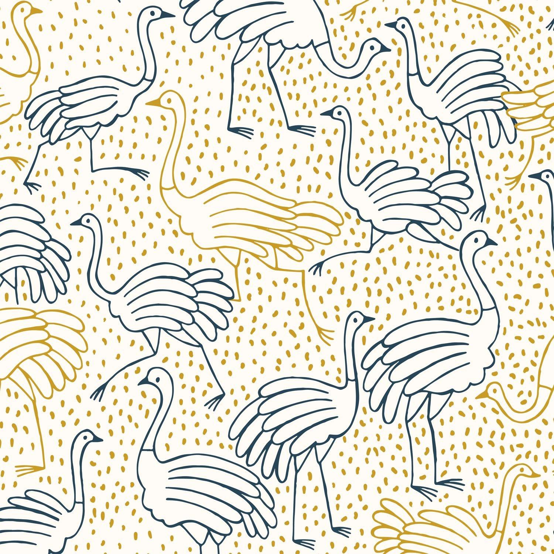 katia canvas gold ostrich