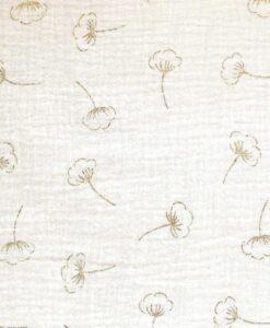 katia moussleine gold cotton flower