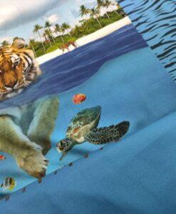 stenzo paneel tijger blauw