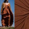 Fibre mood viscose crepe bruin Vikki jurk