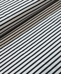 Stenzo strepen zwart wit katoenen tricot
